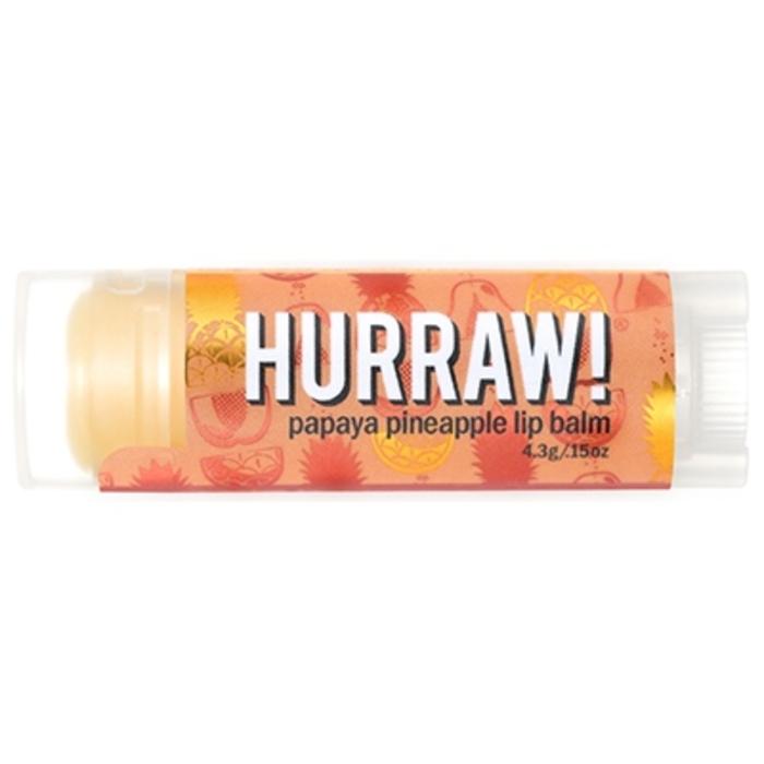 Baume à lèvres vegan papaye ananas 4,3g Hurraw-206477
