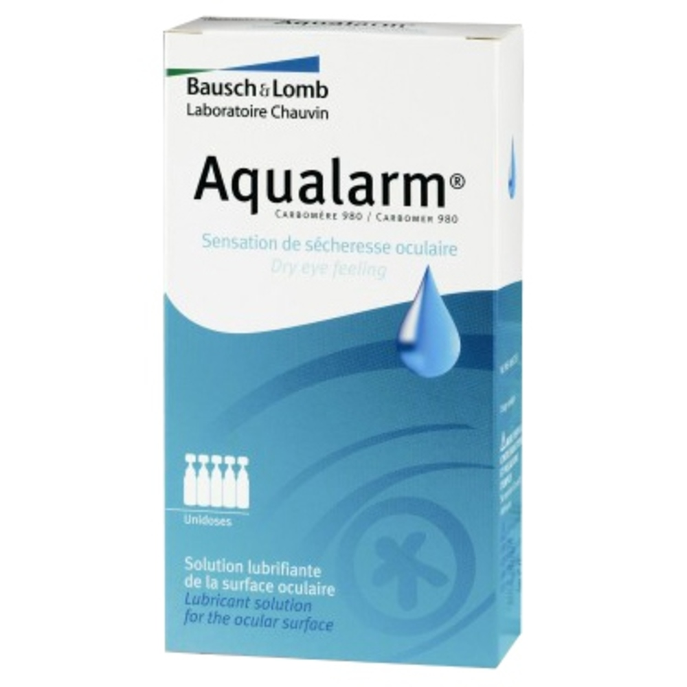 Bausch + lomb aqualarm solution lubrifiante - 20 unidoses - bausch & lomb -205516