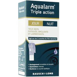 Bausch + lomb aqualarm triple action jour nuit 10ml - bausch & lomb -221187