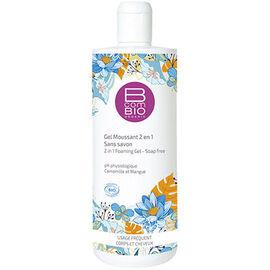Bcombio gel moussant 2 en 1 sans savon 500ml - 500.0 ml - b com bio -111506