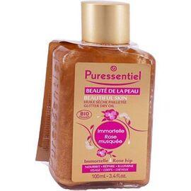 Beauté de la peau huile sèche pailletée 100ml - puressentiel -226777