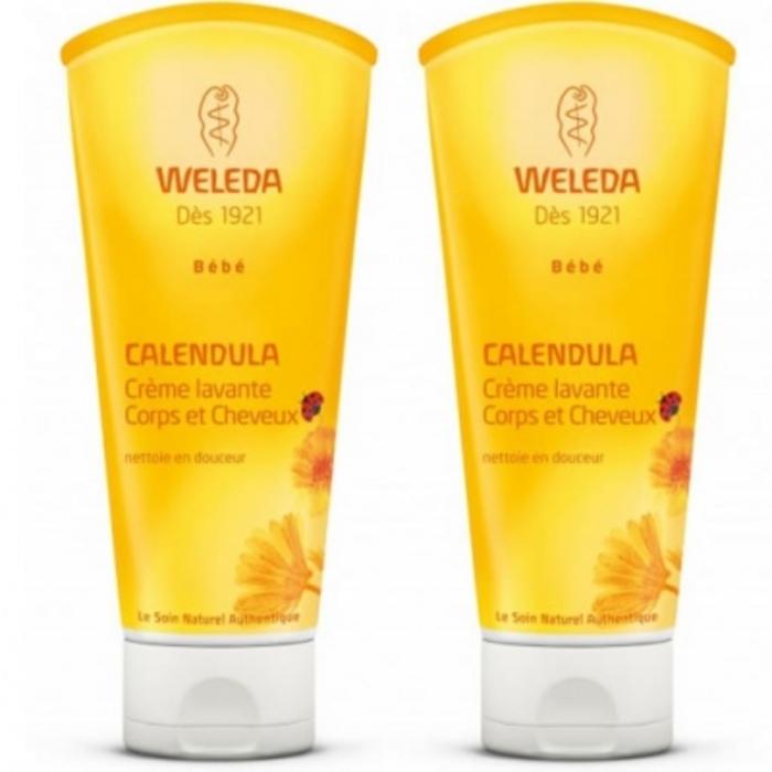 Bébé calendula crème lavante - 2x Weleda-17019