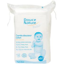 Bébé carrés douceur coton bio x60 - 40.0 unites - soins du bébé bio - douce nature -14418