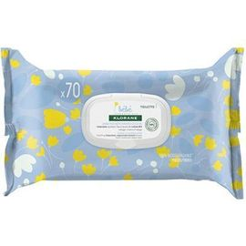 Bebe lingettes nettoyantes douces x70 - klorane -223663