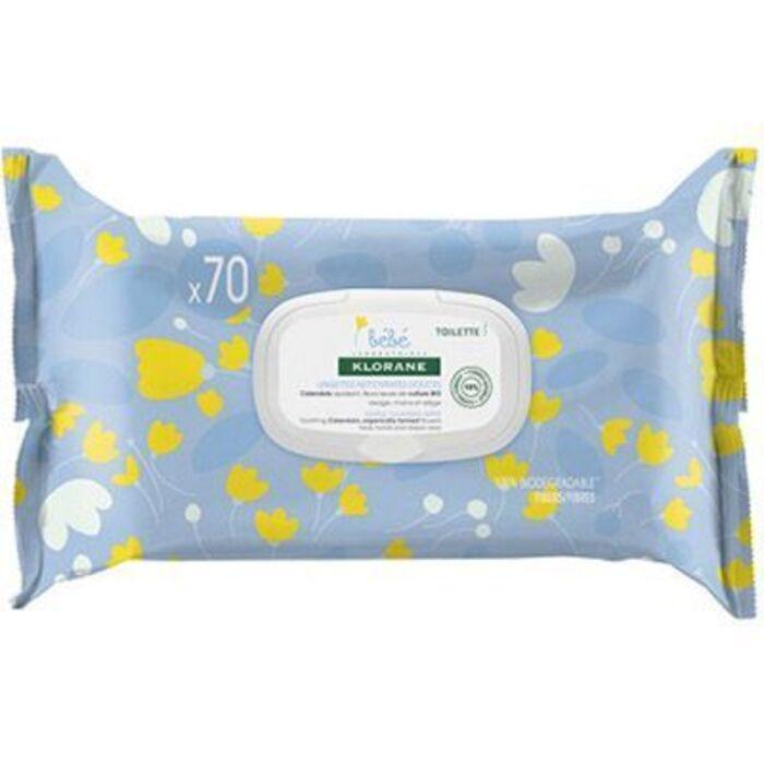 Bebe lingettes nettoyantes douces x70 Klorane-223663