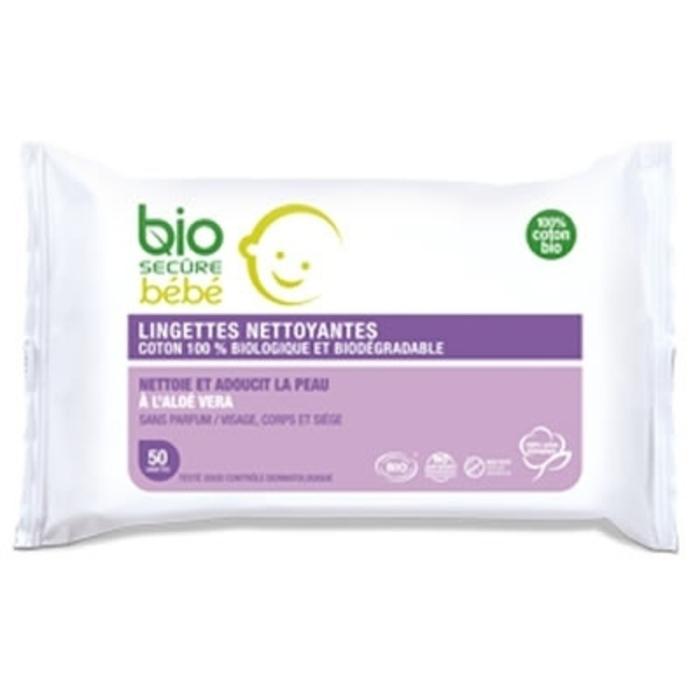 Bébé lingettes nettoyantes x50 Bio secure-196191