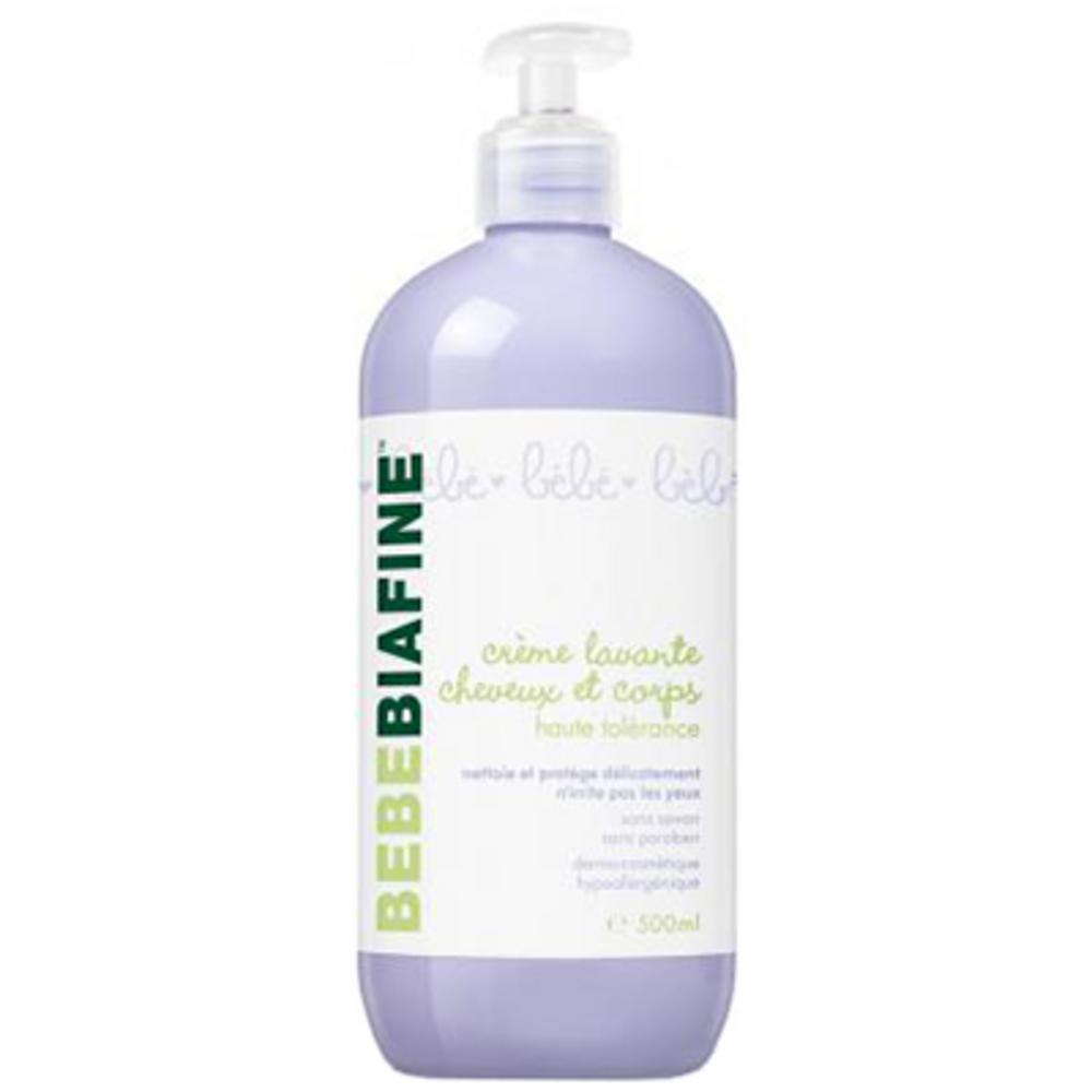 Bebebiafine crème lavante cheveux et corps - 500.0 ml - soins bébé - bébébiafine -124504