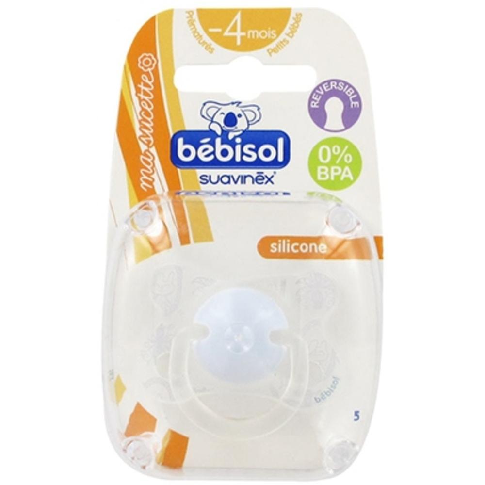 BEBISOL Sucette Silicone Réversible Prématuré - Fille - Sucettes - Bebisol -127654
