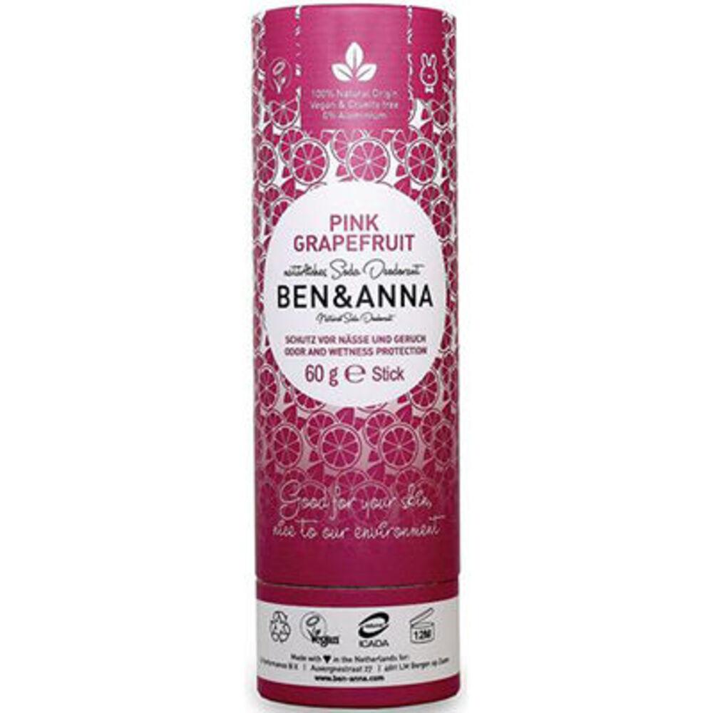 Ben & anna déodorant tube stick pink grapefruit 60g Ben anna-222944