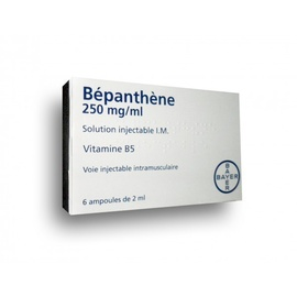 Bepanthene 250mg/ml - 6 ampoules à injecter - 2.0 ml - bayer -192684
