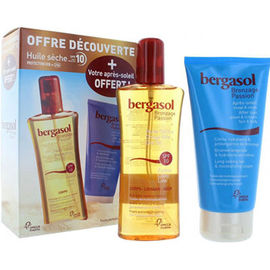 Bergasol huile sèche spf10 125ml + après-soleil 150ml offert - bergasol -226045