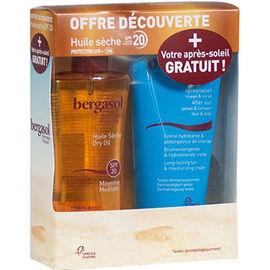 Bergasol huile sèche spf20 125ml + après-soleil 150ml offert - bergasol -226046