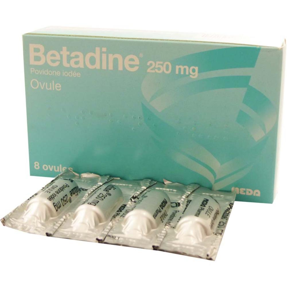 Betadine 250mg - 8 ovules - meda pharma -194304