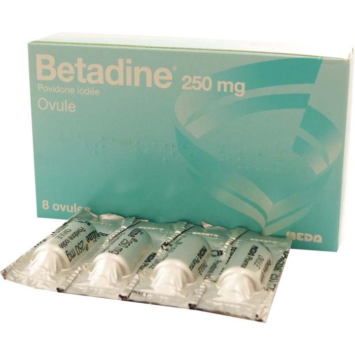 Betadine 250mg - 8 ovules Meda pharma-194304