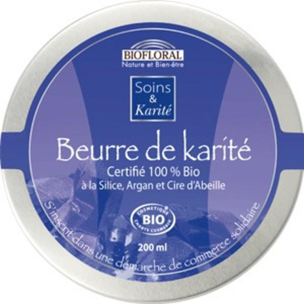 Beurre de karité à la silice, argan et cire d'abeille... - divers - biofloral -134004