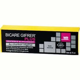 Bicare plus dentifrice au charbon 75ml - gifrer -226118