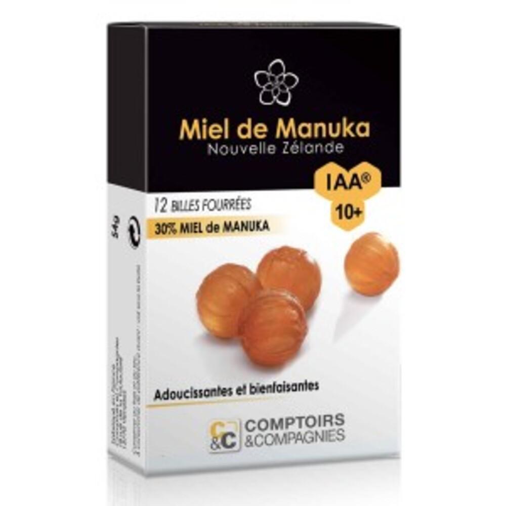 Billes fourrées 30% miel de manuka iaa 10+ - étui 12... - divers - comptoirs & compagnies -134771