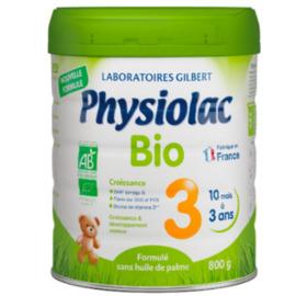 Bio 3ème âge de 1 à 3 ans 800g - physiolac -220858