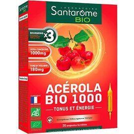 Bio acerola bio 1000 tonifiant 20x10 ampoules - santarome -222431