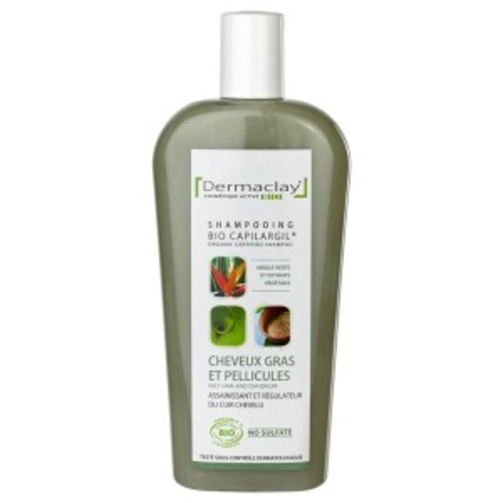 Bio capilargil vert cheveux gras & pellicules - 400.0 ml - bio capilargil familiaux - dermaclay -4991