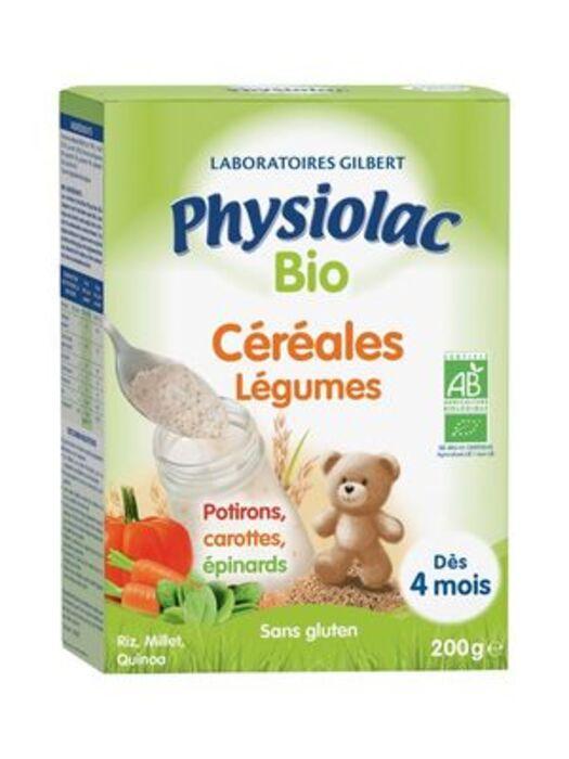 Bio céréales légumes 200g Physiolac-226247