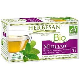 Bio minceur - 20.0 unites - infusion bio - herbesan -132407