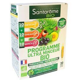 Bio programme ultra minceur bio 30 ampoules - 200.0 ml - santarome -223816