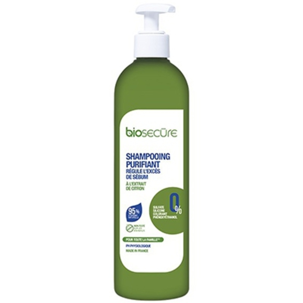 Bio secure shampooing purifiant 400ml - bio secure -206582