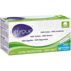 Bio tampons digitaux 100% coton bio normal x16 - unyque -221866