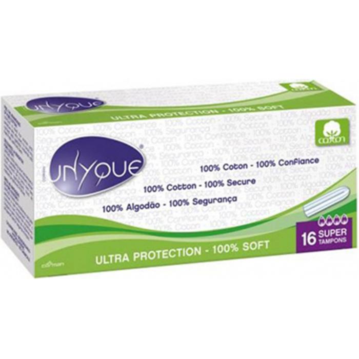 Bio tampons digitaux 100% coton bio super x16 Unyque-221867