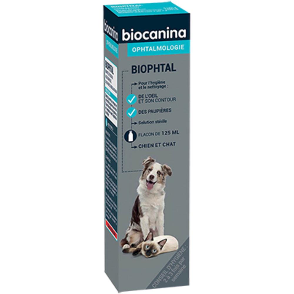 Biocanina biophtal nettoyant yeux - 125ml - biocanina -206030