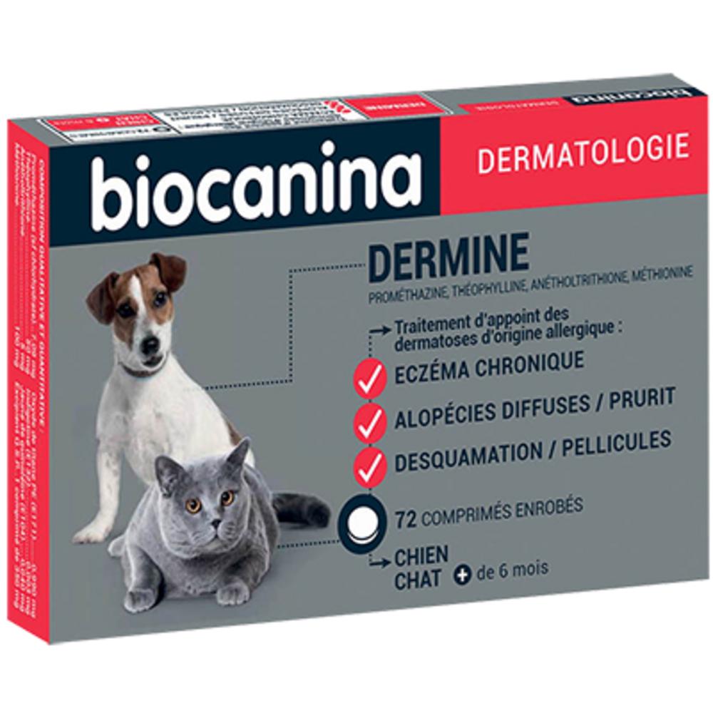 Biocanina dermine 72 comprimés - biocanina -145583