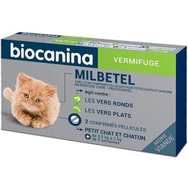 Biocanina milbetel vermifuge chats et chatons < 2kg - 2 comprimés - biocanina -206038