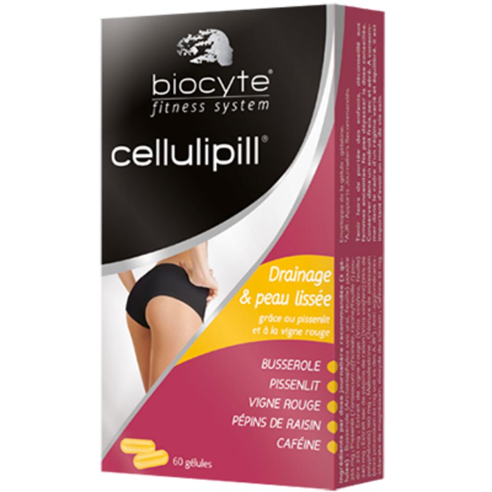 Biocyte cellulipill - 60 gélules - 60.0 unites - minceur - biocyte Cellulite et rétention d'eau-13477