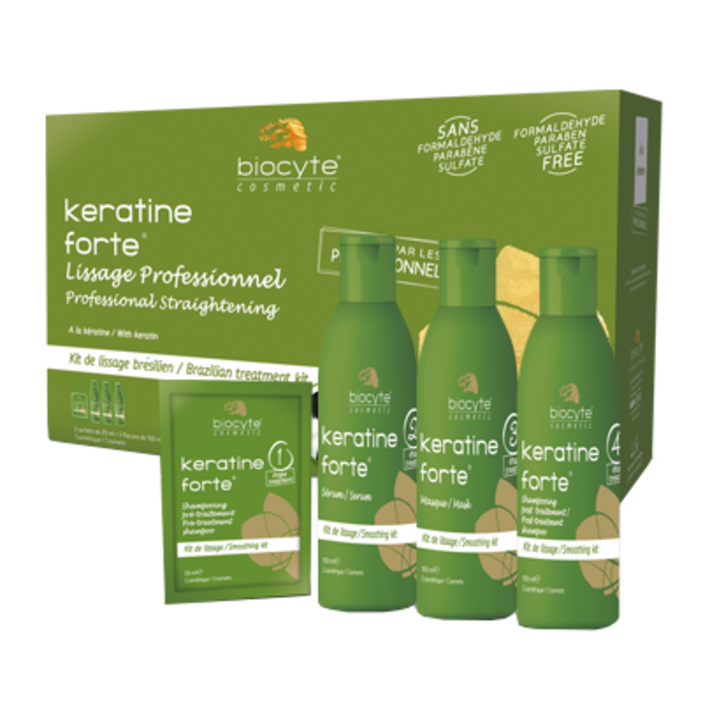 Biocyte keratine forte kit lissage brésilien - divers - biocyte -188809