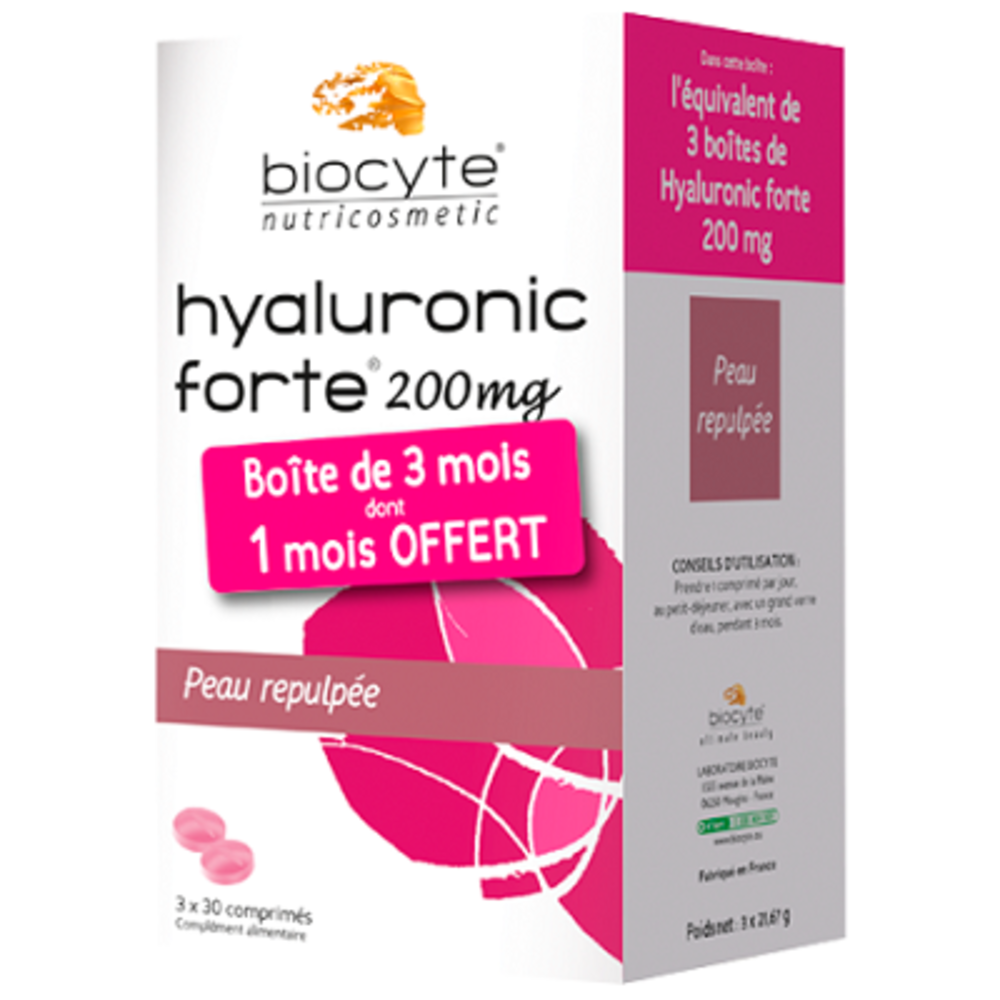 Biocyte pack hyaluronic forte 200mg - divers - biocyte -141752