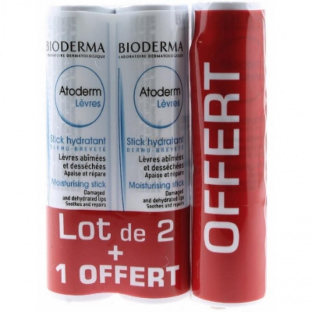 Bioderma atoderm lèvres - lot de 3 - bioderma -197733