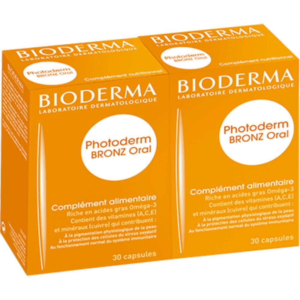 Bioderma photoderm bronz oral - lot de 2 - 60.0 unites - solaires - bioderma Préparation de la peau au soleil-4130