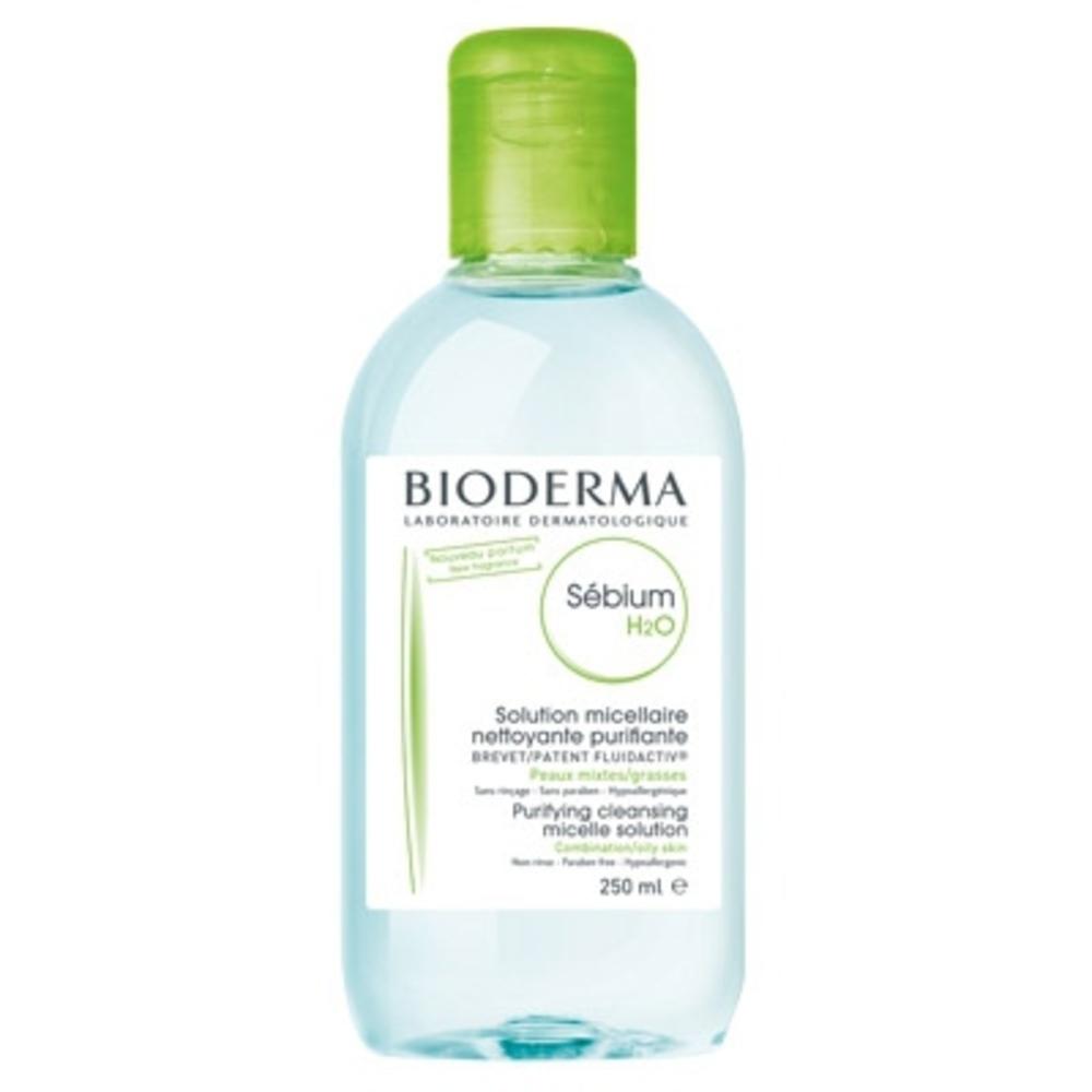 Bioderma sébium h2o - 250ml - 250.0 ml - peaux grasses - bioderma Nettoyant quotidien purifiant-4144