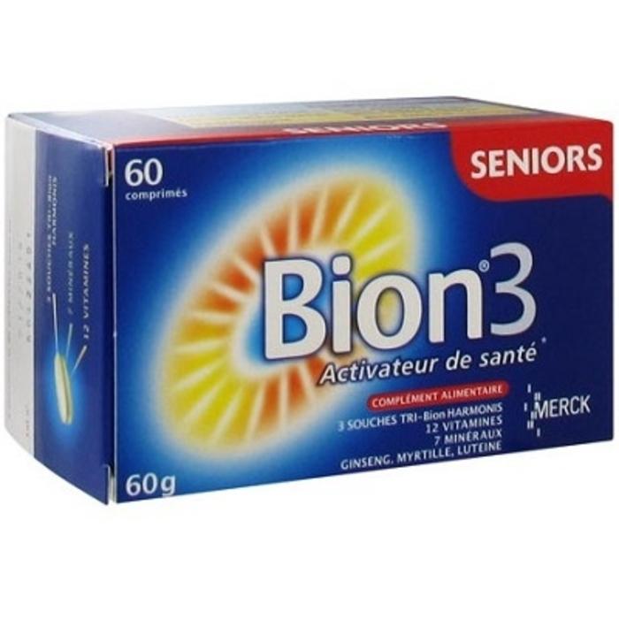Bion 3 Seniors 60 Comprimes Merck Achat Au Meilleur Prix Pharmacie En Ligne