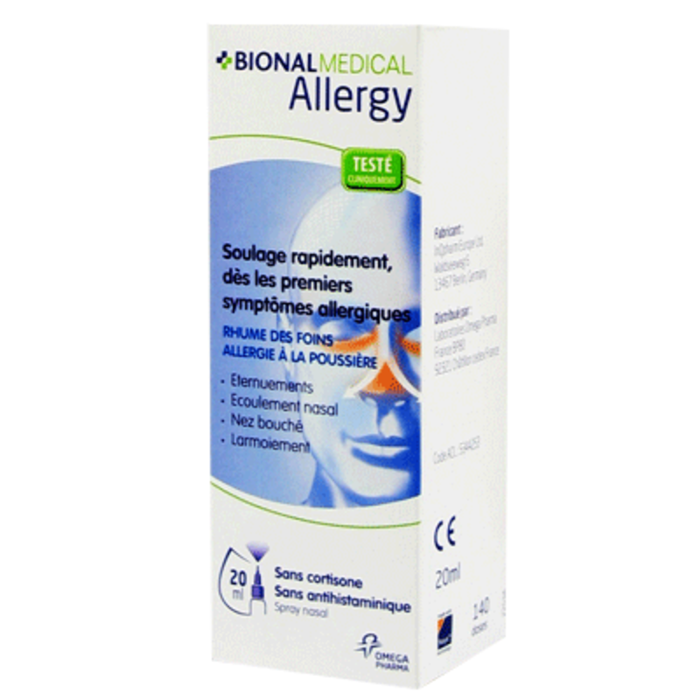 Bional medical allergy - 20.0 ml - nasodren - bional médical -141472