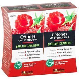 Biotechnie cétones de framboises bio lot de 2 x 60 gélules - biotechnie -220409