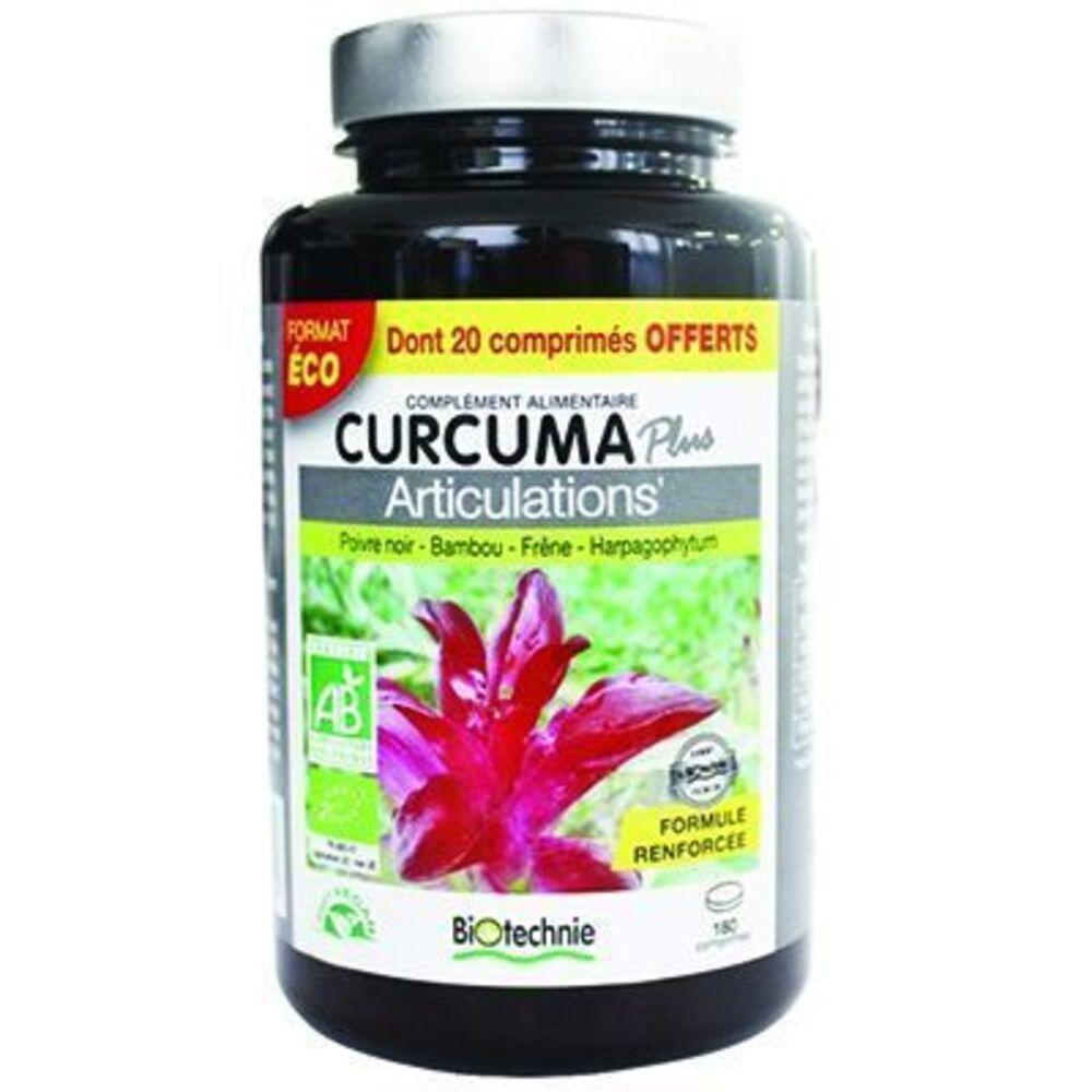 Biotechnie curcuma plus articulations bio 180 comprimés - biotechnie -219168