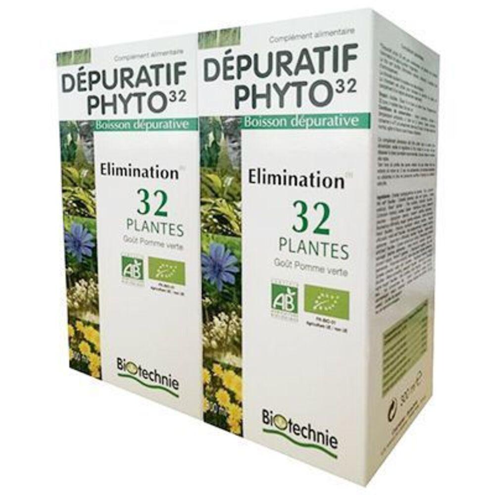 Biotechnie dépuratif phyto 32 bio lot de 2 x 300ml - biotechnie -220404
