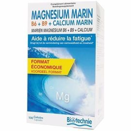 Biotechnie magnésium marin b6 b9 100 gélules - 100.0 unites - equilibre - biotechnie -2787