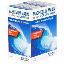 Biotechnie magnésium marin b6 b9 2x100 gélules - divers - biotechnie -141819