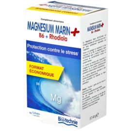 Biotechnie magnésium marin b6 rhodiola 90 gélules - divers - biotechnie -188873