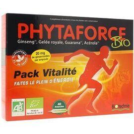 Biotechnie phytaforce bio vitality 40 ampoules - biotechnie -189322