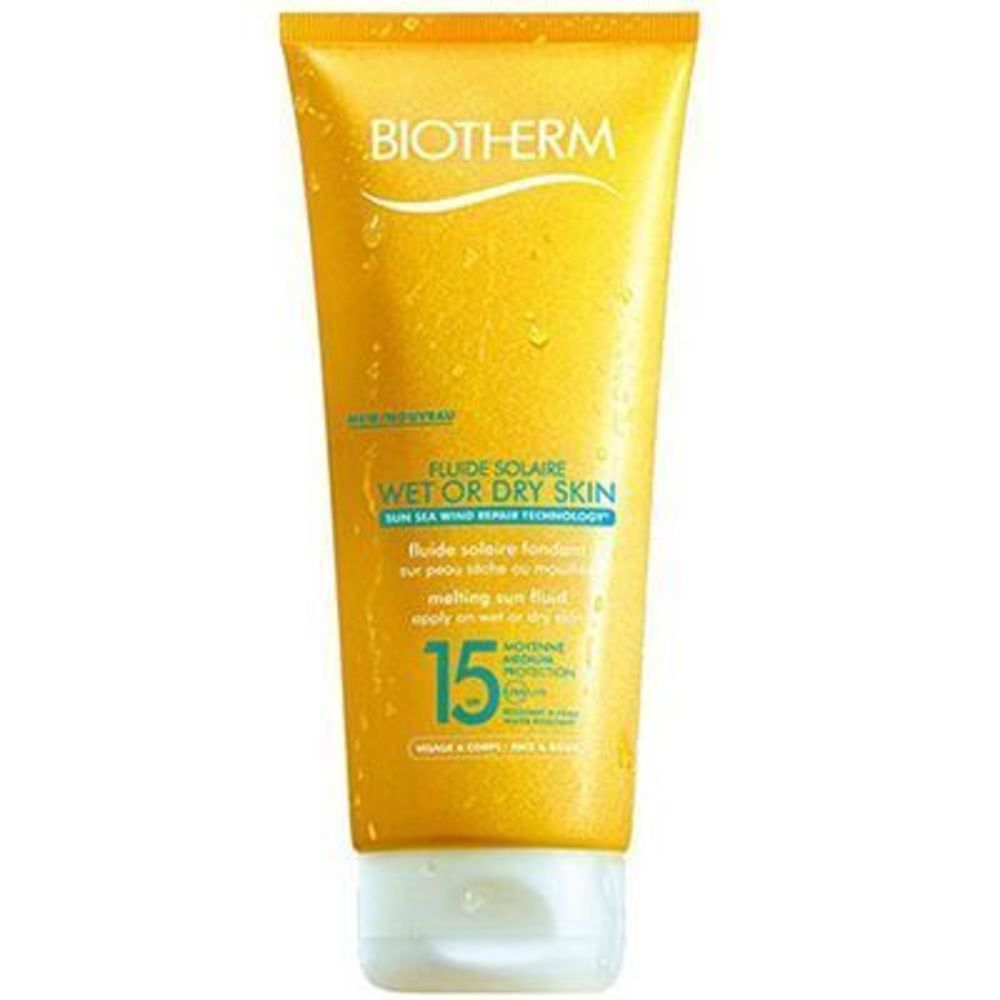 Biotherm fluide solaire wet or dry skin spf15 200ml - fluide solaire wet or dry skin - biotherm -213696