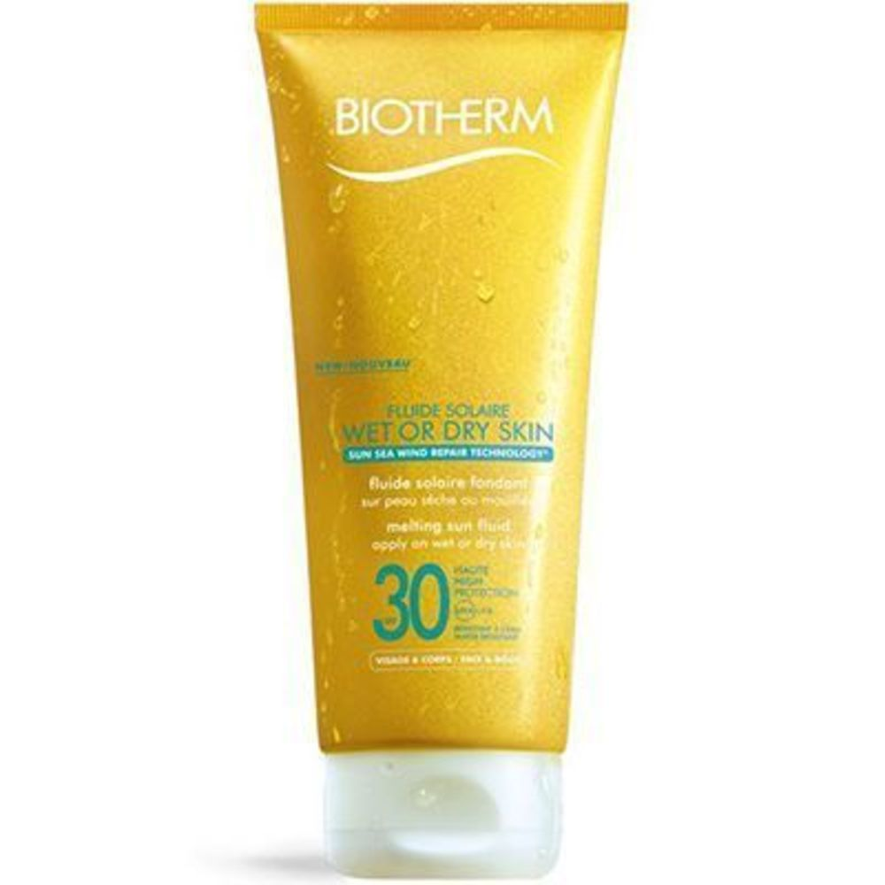 Biotherm fluide solaire wet or dry skin spf30 200ml - fluide solaire wet or dry skin - biotherm -213697